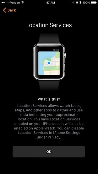 Apple Watch - Location Services