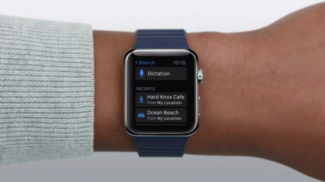 Apple Watch voice dictation