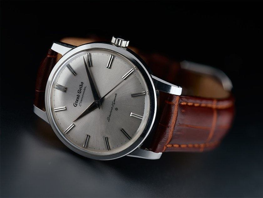 A Grand Seiko 3180 in stainless steel