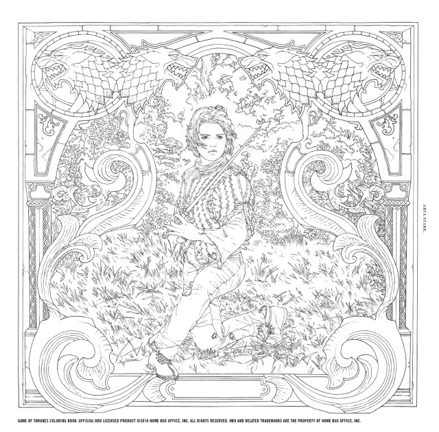 Win the Game of Thrones Coloring Book!  Watchers on the Wall  A