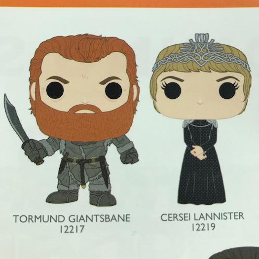 Tormund Giantsbane e Cersei Lannister Funko Pop 2017
