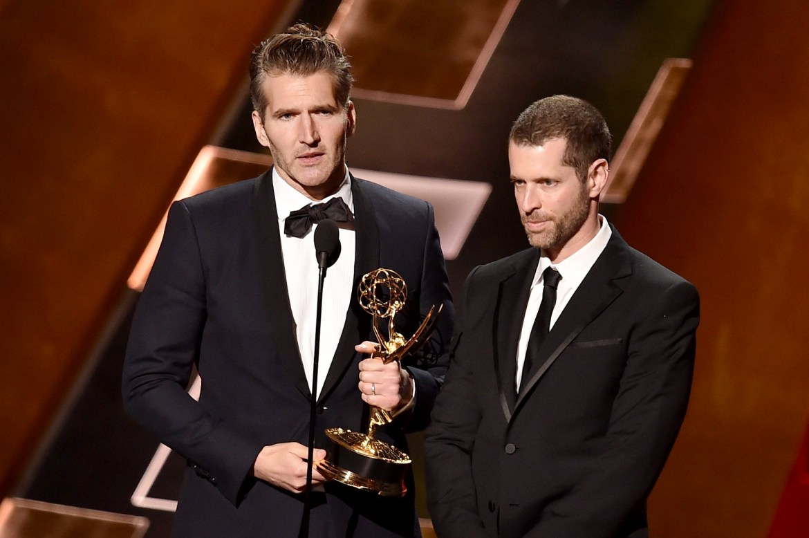 Image result for david benioff and db weiss awards show