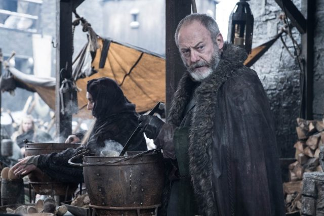 Davos looking speculative, perhaps? Photo: Helen Sloan / HBO