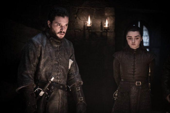 Harington and Maisie Williams as Arya Stark. Photo: Helen Sloan / HBO