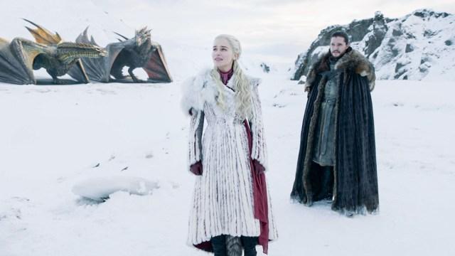 Daenerys Jon Drogon Rhaegal 801 Winterfell Season 8