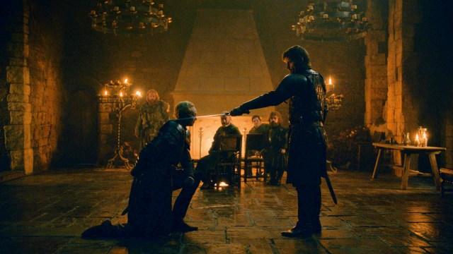 802 Knight of the Seven Kingdoms Brienne Jaime Knighting Brightened