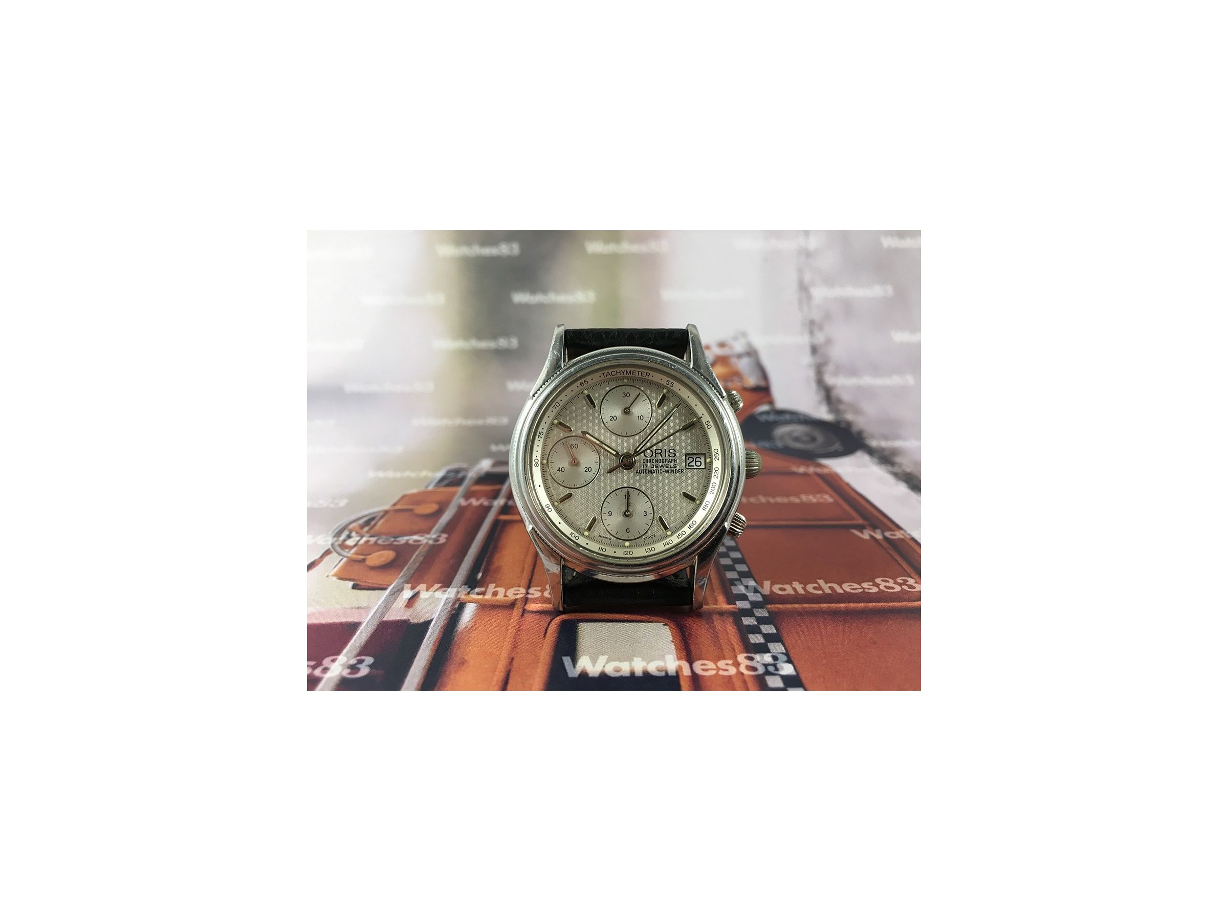 Vintage Swiss Cronograph Watch Oris Automatic Winder 17 Jewels Oris Vintage Watches Watches83