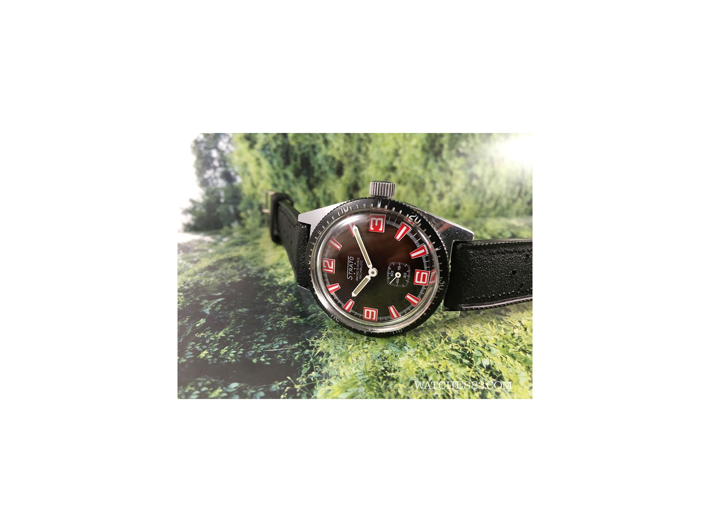 Vintage Watch Hand Winding Strato Skin Diver Wonderful Strato Vintage Watches Watches83