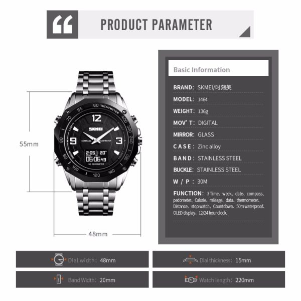 Men's Digital Watch Quartz Wristwatches
