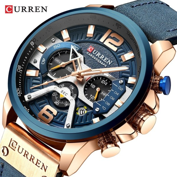 Sport Watches Leather Wrist Watch