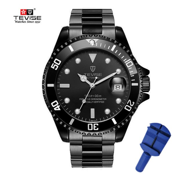 Men Mechanical Watch Stainless Steel Male Clock