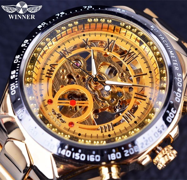 Mens Watches Automatic Skeleton Watch