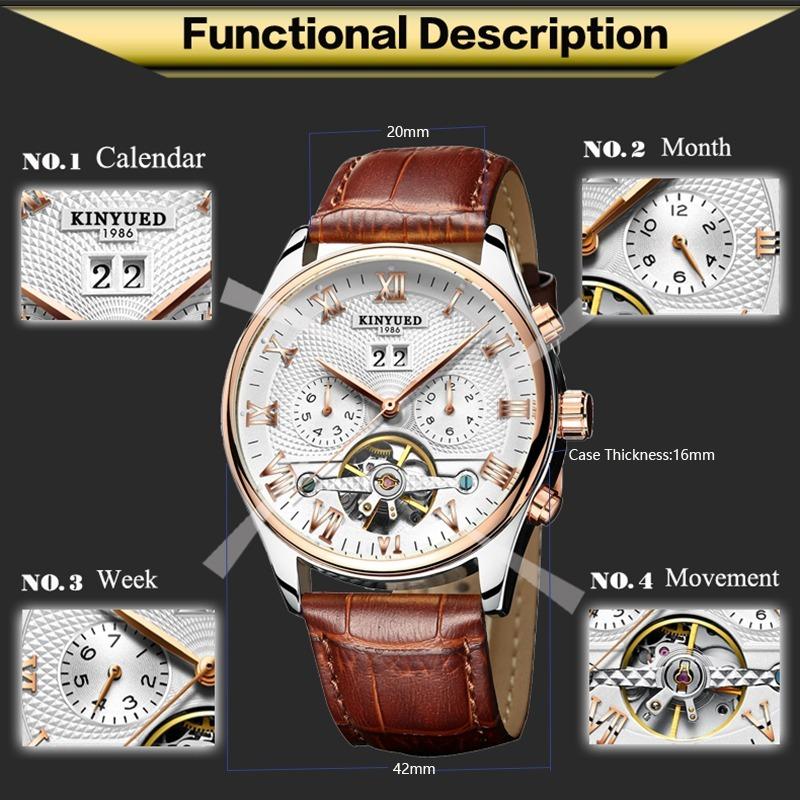 Skeleton Watches Tourbillon Mechanical Watch