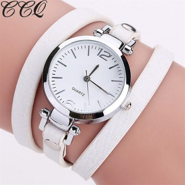 Leather Bracelet Watches Ladies Quartz