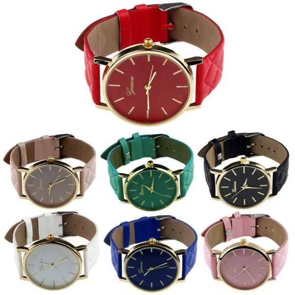 Leather Quartz Analog Wrist Watches