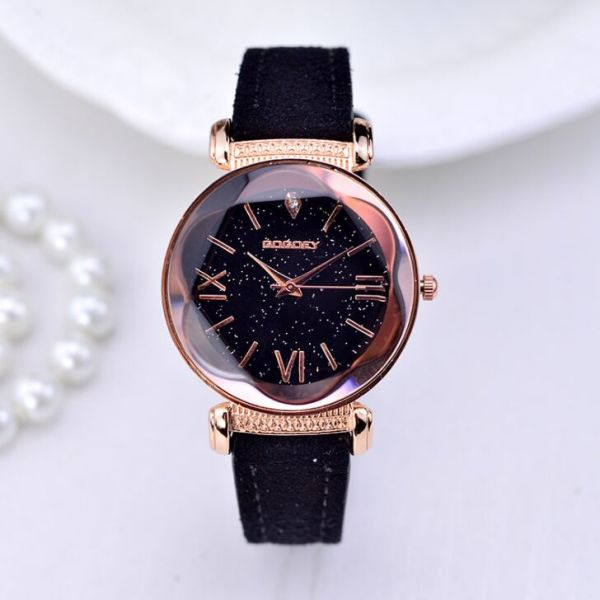 Leather Watches Casual Dress Quartz