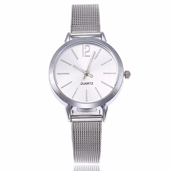 Silver Gold Mesh Watch