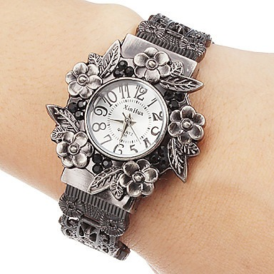 Vintage Flowers Bracelet Watch Women Watches