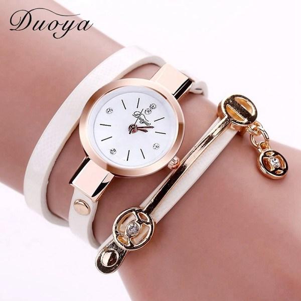 Women Bracelet Watch Gold Quartz