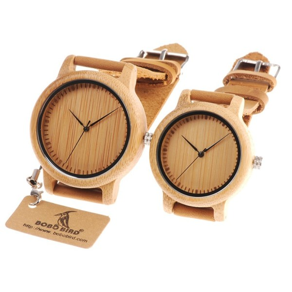 Wood Watches Bamboo Couple Casual Quartz