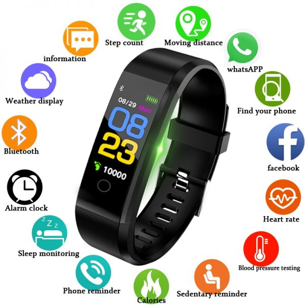 New Smart Watch Heart Rate Monitor Blood Pressure