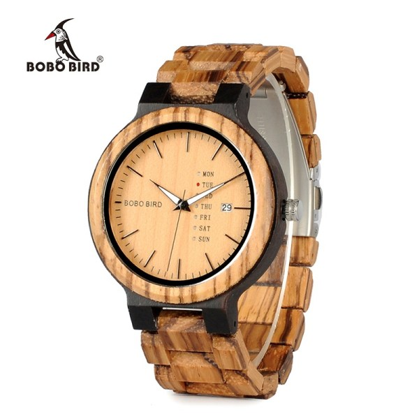 Newest Wood Watch Display Date Quartz Watches
