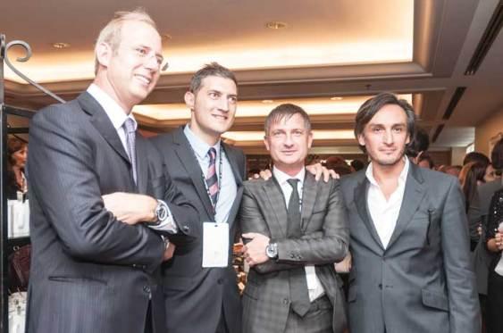 Alex Kull, Flavio Pellegrini, Director General de Concord; Fausto Salvi, CEO de Perrelet, y Octavio García, Director Artístico de Audemars Piguet.