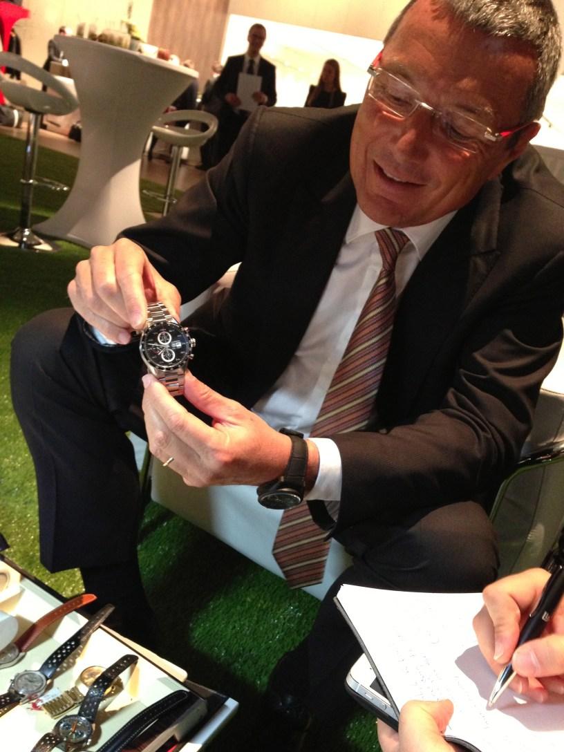 Jean Christophe Babin, CEO de TAG Heuer, presentó a Watches World la nueva colección.