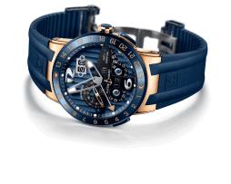 El Blue Toro es el único reloj con calendario perpetuo que permite el ajuste, hacia adelante o hacia atrás, de todos los indicadores calendarios.