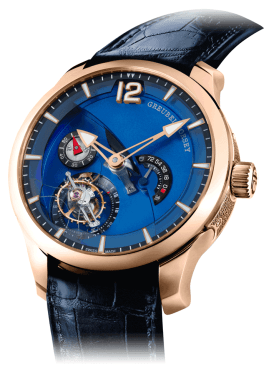 Tourbillon 24 Sec. Contemporain en oro rojo.