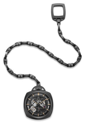 Pocket Watch Tourbillon GMT Ceramica.