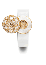 Reloj Piaget Rose Limelight Garden Party secret, abierto.