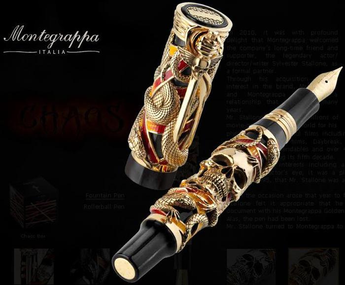 La pluma Chaos diseñada por Silvester Stallone.