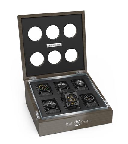 Esta es la lujosa caja de colección que contiene a los seis instrumentos que conforman la colección Aviation.