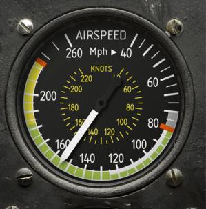 Anemómetro que sirvió de referencia para el modelo Airspeed.