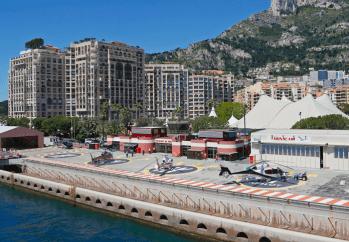 Así lucen todos los helipuertos de Mónaco.