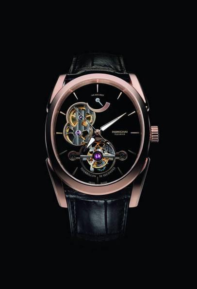 Ovale Tourbillon - PFH150-1003800 caja en oro rosa y correa Hermès-