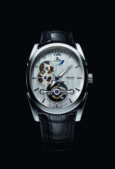 Ovale Tourbillon - PFH150-1204800 caja en oro blanco correa Hermès.