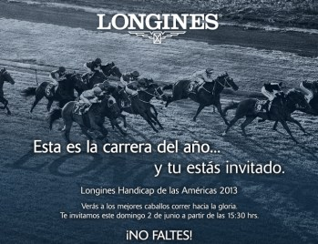 Longines Handicap de las Américas / domingo 02 de junio del 2013.