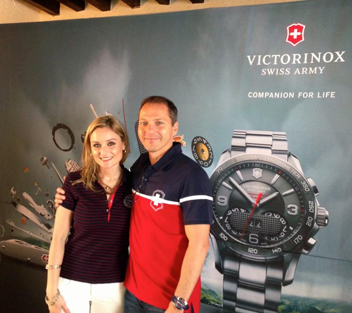 Luzma Zamora, Gerente de Marca Victorinox México junto a Alexander Bennouna, CEO Victorinox Watches Division.