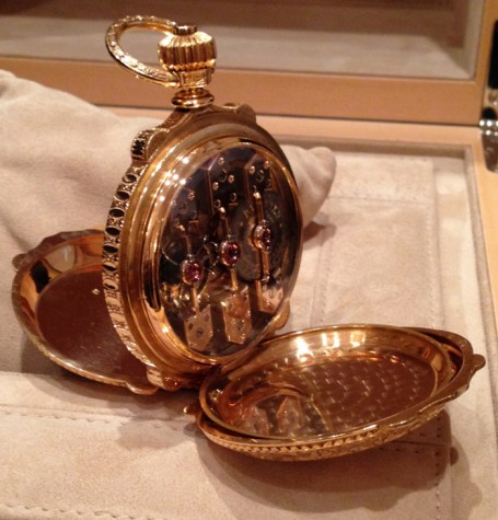 La Esmeralda Pocket Watch, Tourbillon with Three Gold Bridges