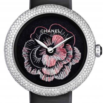 ARTISTIC CRAFTS WATCH PRIZE Chanel Mademoiselle Privé Camélia Brodé