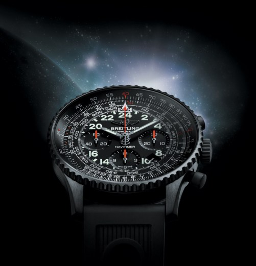 Navitimer Cosmonaute, un reloj de 24 horas, cronógrafo y acero DLC.