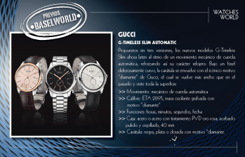 Gucci, G-Timeless Slim Automatic.