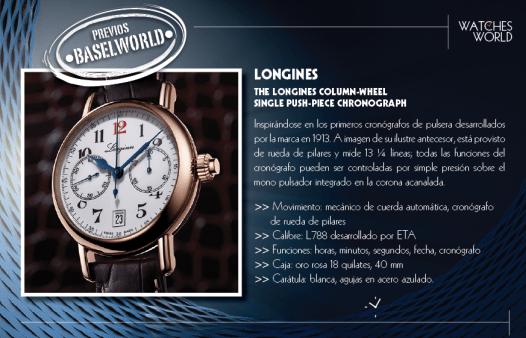 The Longines Column-Wheel Single Push-Piece Chronograph.