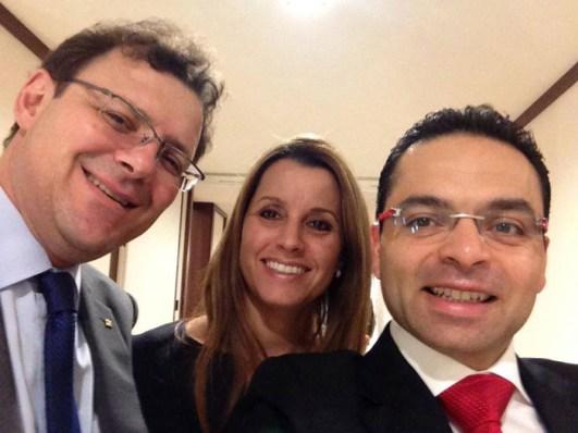 Thierry Stern, Sandrine Stern y Guillermo Lira