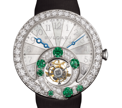 Berries Bulgari tourbillon con esmeraldas