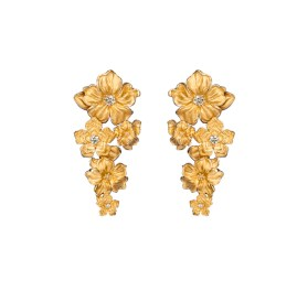 DA13503 010101 - Emperatriz maxi earrings in yellow gold and diamonds
