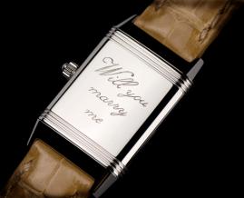"""Jaeger-LeCoultre: no existe mejor regalo que uno personalizado. Graba en su """"lienzo reverso"""" el mensaje que desees."""