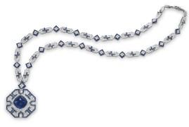 Collar de Zafiros y diamantes de Bulgari.